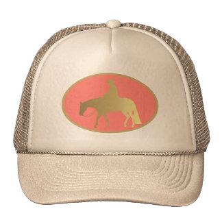 Golden Western Pleasure Horse Trucker Hat