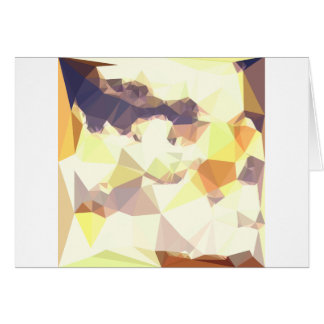 Golden Wheat Abstract Low Polygon Background Card