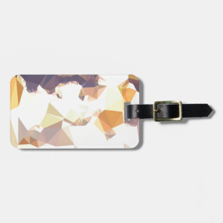 Golden Wheat Abstract Low Polygon Background Luggage Tag