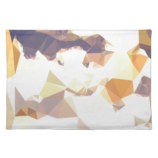 Golden Wheat Abstract Low Polygon Background Placemat