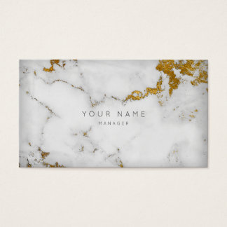 Golden White Grey Marble Vip Appointment Business Card