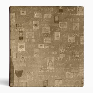 Golden Wine Binder/Album Vinyl Binders