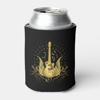 Golden Winged Guitar Can Cooler
