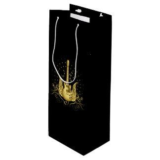 Golden Winged Guitar Wine Gift Bag