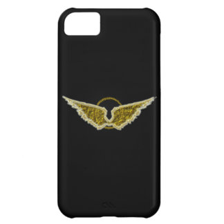 Golden wings with halo cover for iPhone 5C