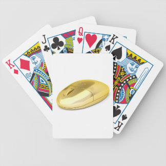 Golden wireless mouse bicycle playing cards