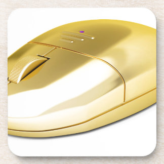 Golden wireless mouse coaster