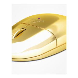 Golden wireless mouse letterhead