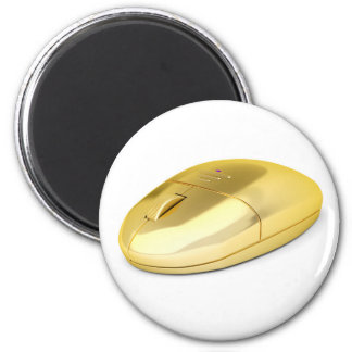 Golden wireless mouse magnet
