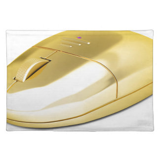 Golden wireless mouse placemat