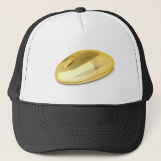 Golden wireless mouse trucker hat