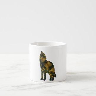 Golden Wolf Expresso Mug