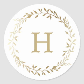 Golden Wreath   Holiday Stickers