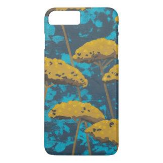 Golden Yarrow Garden with Blue Background iPhone 7 Plus Case