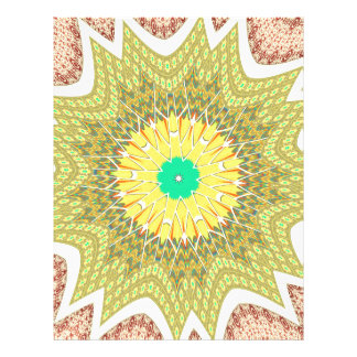 gOLDEN YELLOW African ethnic tribal pattern Personalized Letterhead