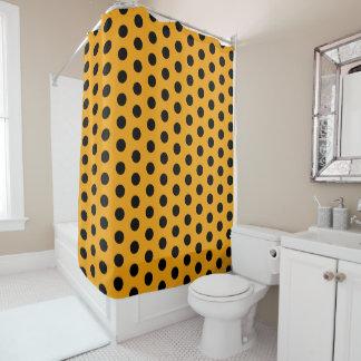Golden Yellow and Black Polka Dot