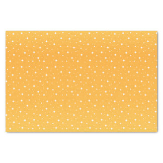 Golden Yellow and White Stars Tissue Paper