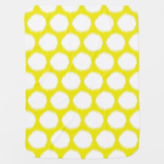Golden Yellow Asian Moods Ikat Dots Baby Blanket