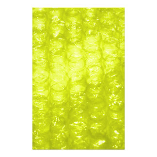 Golden Yellow Bubble Wrap Effect Stationery