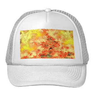Golden Yellow & Burnt Orange Abstract Trucker Hat