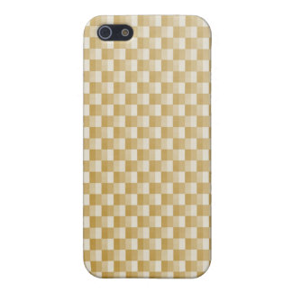 Golden Yellow Carbon Fiber Patterned iPhone 5/5S Cases