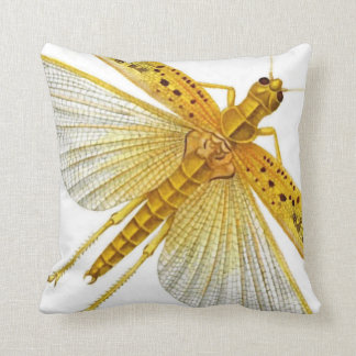 "Golden/Yellow Cricket Bug/Insect/Cicada 20"" Pillow"