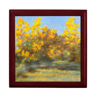 Golden Yellow Fall Trees Keepsake Box