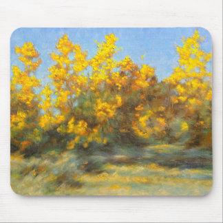 Golden Yellow Fall Trees Mousepad