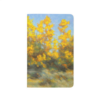 Golden Yellow Fall Trees Pocket Journal