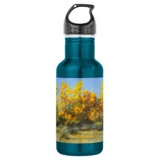Golden Yellow Fall Trees Water Bottle