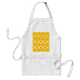 Golden Yellow Geometric Ikat Tribal Print Pattern Apron