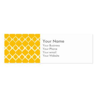 Golden Yellow Geometric Ikat Tribal Print Pattern Business Cards