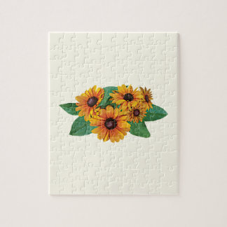 Golden Yellow Gerbera Daisies Jigsaw Puzzle