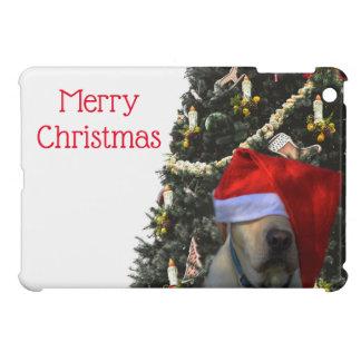 Golden Yellow Labrador in Santa Hat Christmas iPad Mini Case