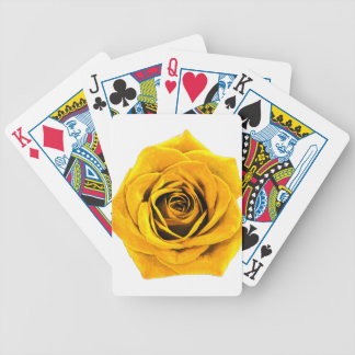 Golden Yellow Rose 20171027b Bicycle Playing Cards