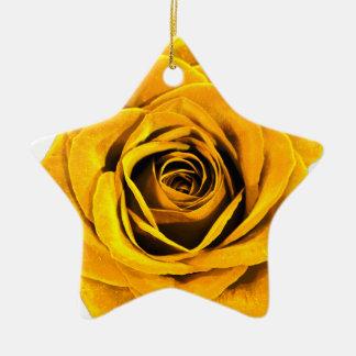 Golden Yellow Rose 20171027b Ceramic Ornament