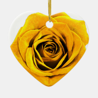 Golden Yellow Rose 20171027b Ceramic Ornament