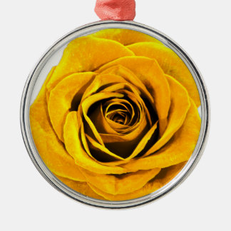 Golden Yellow Rose 20171027b Metal Ornament