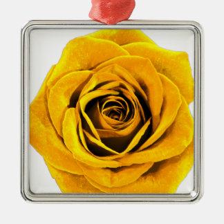 Golden Yellow Rose 20171027b Metal Ornament