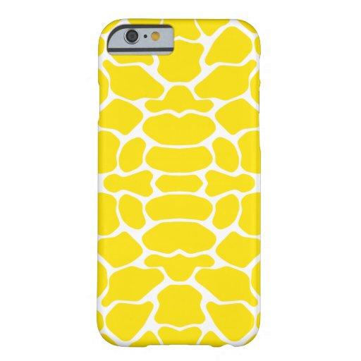 Golden Yellow Safari Giraffe iPhone 6 Case