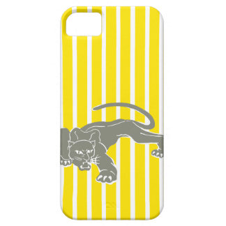 Golden Yellow Safari Stripe with Leopard iPhone 5 Cases