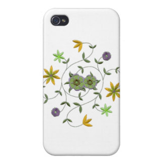 Golden Yellow Sage Spring Flower Garden Cover For iPhone 4