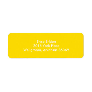 Golden Yellow Top Color Coordinating Return Address Label