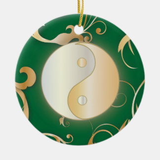 Golden Yin & Yang Ornament