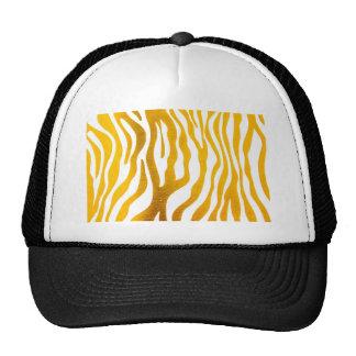 Golden Zebra Prints Trucker Hat