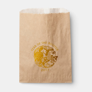 Golden Zodiac 2017 Rooster Year favor bag