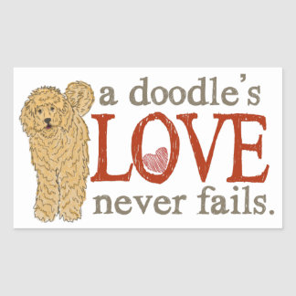 Goldendoodle and Labradoodle Love Sticker