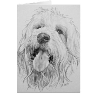 Goldendoodle Card