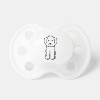 Goldendoodle Dog Cartoon Pacifier