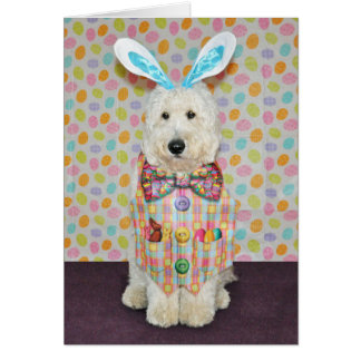 Goldendoodle Easter Card